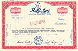 Royal Inns of America, Inc. - California