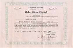 Rolar Mines Limited 1946