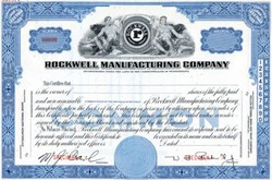 Rockwell Manufacturing Company Specimen - Pennsylvania 1925