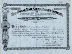 Royal Mail Steam Packet Company - 1918