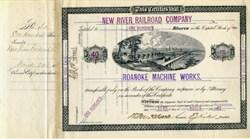 Roanoke Machine Works (Locomotive manufacturer) - Virginia 1882