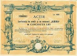 Romanian Bee Bank - Stock  Certificate 1922