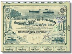 Navigation on Danube Stock 1921