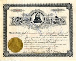 Rocky Mountain Bell Telephone Company - Utah Territory 1904