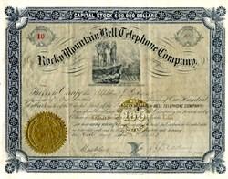 Rocky Mountain Bell Telephone Company - Utah Territory 1883