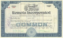 Romola, Inc. of Nevada - 1930