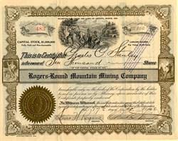 Rogers Round Mountain Mining Company - Arizona 1906