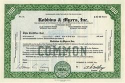 Robbins & Myers, Inc. - Ohio 1930