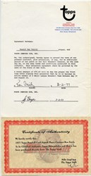 Ron Fairly Topps Player Contract 1977