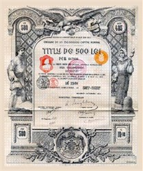 Roumanian Public Debt - Gold Stock - 1913