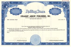 Rolling Stone Straight Arrow Publishers, Inc. (Rolling Stone Magazine)  - Delaware 1977