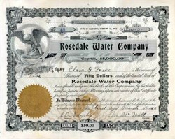 Rosedale Water Company 1931 - California