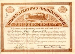 Rome, Watertown and Ogdensburgh Railroad Company - New York 1887