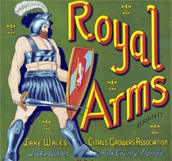 Royal Arms Brand Crate Labels