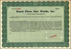 Royal Piece Dye Works, Inc.