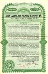 Ruth Automatic Knitting Machine Co. - Pennsylvania 1903