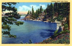 Rubicon Point, Lake Tahoe Postcard