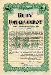 Ruby Copper Company - Arizona 1912
