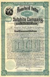 Rumford Falls Sulphite Company Gold Bond - Maine 1894