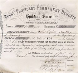 Rugby Provident Permanent Benefit Building Society 1864