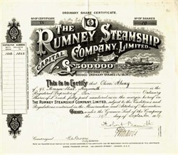 Rumney Steamship Company, Limited - England 1919