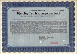 Rutley's, Incorporated - Maryland