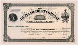 Rutland Trust Company 18XX