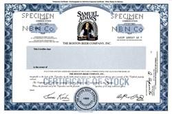 Samuel Adams Boston Lager The Boston Beer Company, Inc. - Specimen