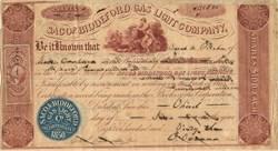 Saco and Biddeford Gas Light Company - Maine, 1863