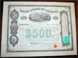 United States First Mortgage Bond signed by Mexican General Santa Anna (Santa Anna Bond)  -  Vera Cruz, Mexico 1866