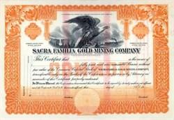 Sacra Familia Gold Mining Company - SPECIMEN