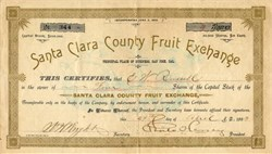 Santa Clara County Fruit Exchange (Was located in Silicon Valley )  - San Jose, California - 1893