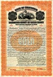 Sacramento County and Sutter County - California 1913