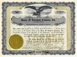 Santa Fe Telephone Company, Inc. - Melrose, Florida 1952