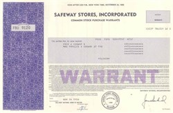 Safeway Stores, Incorporated - Delaware 1986