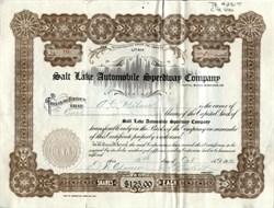 Salt Lake Automobile Speedway Company - Utah 1912