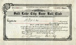 Salt Lake City Base Ball Club (Salt Lake Bees )  -1927