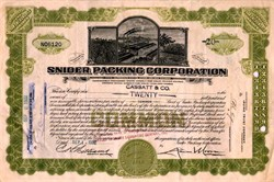 Snider Packing Corporation - New York 1932