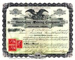 Sandstone Mining Company - California 1900