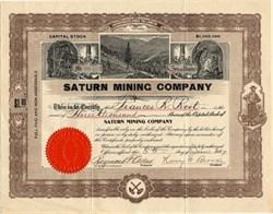 Saturn Mining Company - Nevada 1907