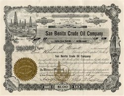 San Benito Crude Oil Company - California 1910