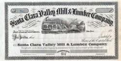 Santa Clara Valley Mill & Lumber Company - 1870's