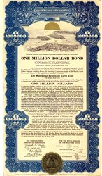 San Diego Million Dollar Promotional Bond - California 1938