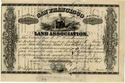 San Francisco Land Association 1859 RARE