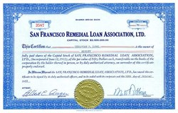 San Francisco Remedial Loan Association, Ltd. - California 1953