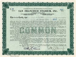 San Francisco Stadium, Inc. - California 1935