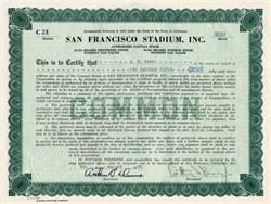 San Francisco Stadium, Inc. - California 1935