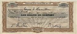 San Ignacio Oil Company- Nevada 1933