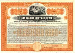 San Joaquin Light and Power - California - 1910