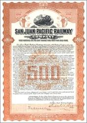 San Juan Pacific Railway Company 1908 - San Juan Bautista, California